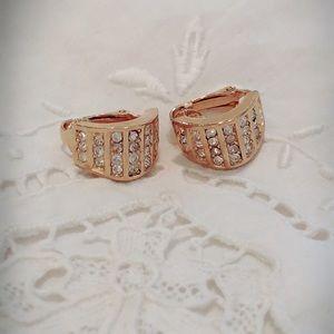 Vintage Christian Dior Crystal & Gold Earrings